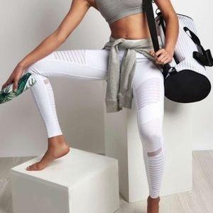 ALO Yoga White Moto Leggings Full Length XS